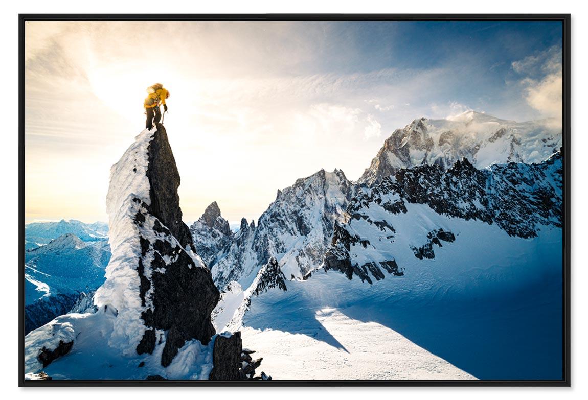 Photo massif du mont blanc et l'Aiguille Verte