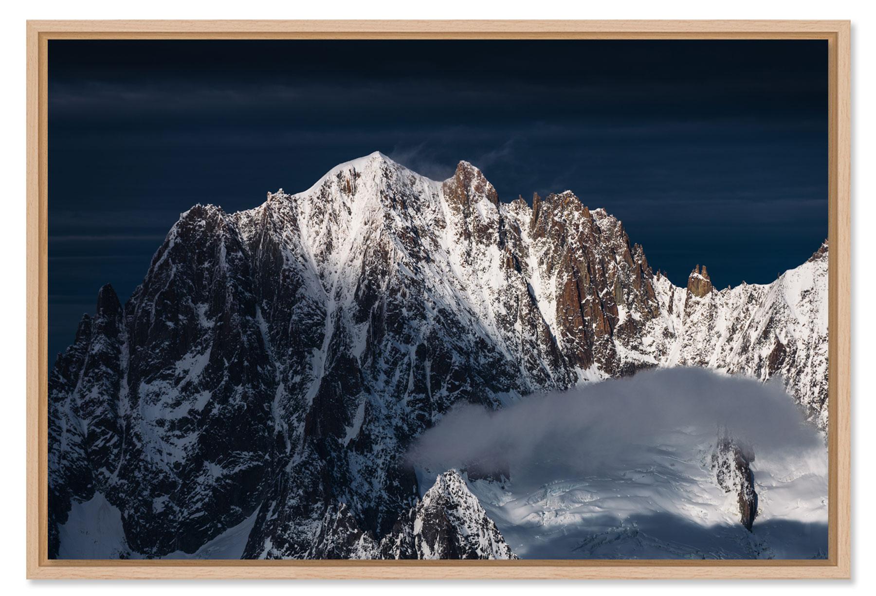 Tirage photo de montagne du Massif du Mont Blanc et ses sommets emblématiques.