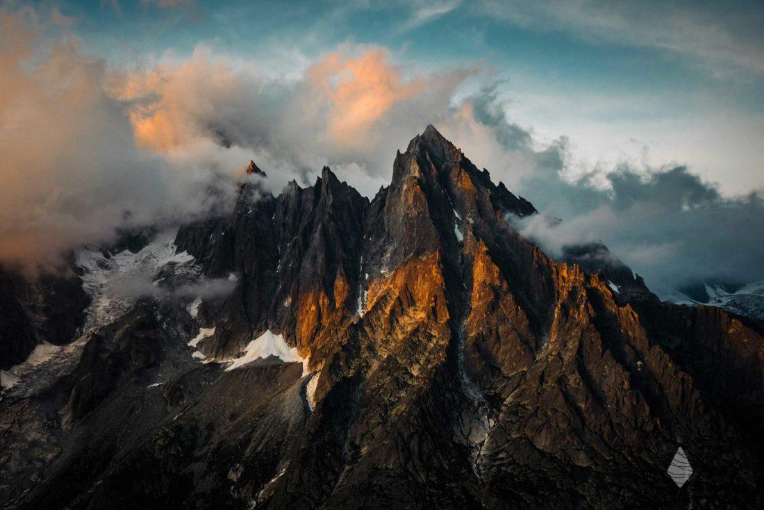 Photo de l'Aiguille du Moine dans le massif du Mont-Blanc