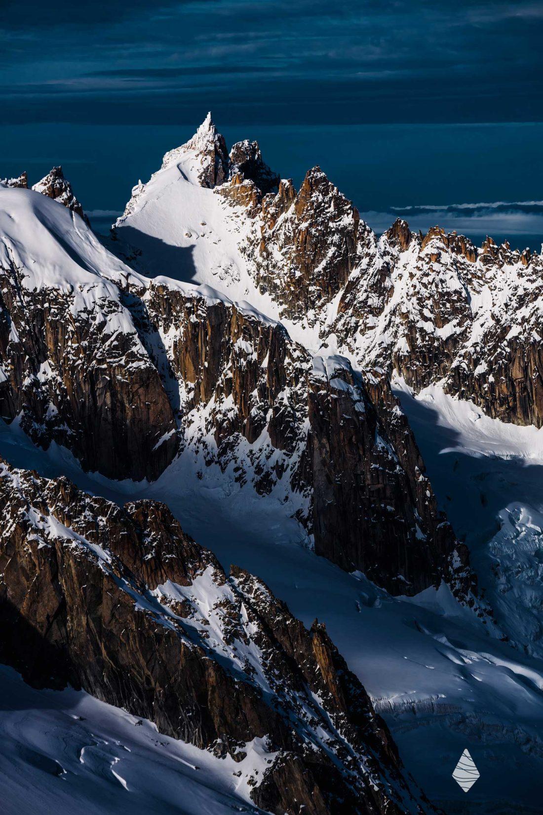 Photo de l'Aiguille du Plan dans le Massif du Mont-Blanc