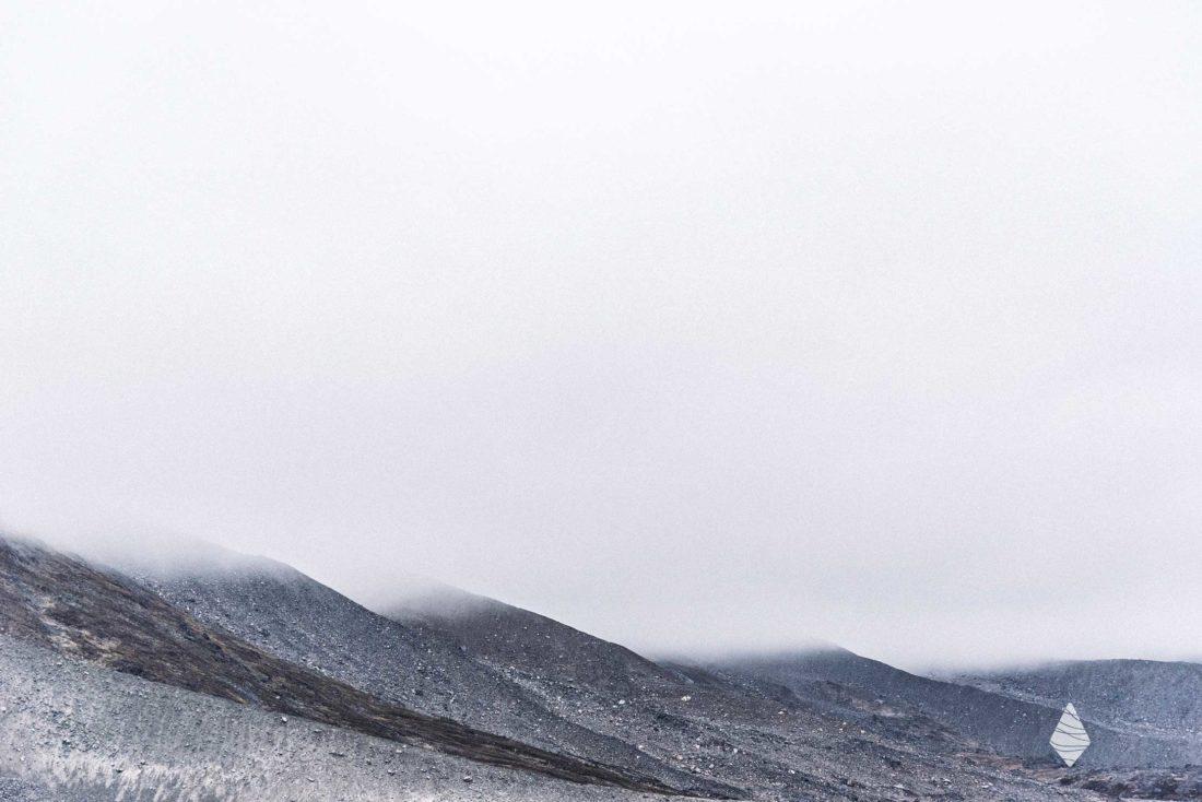 Photo d'une moraine glaciaire au Groenland