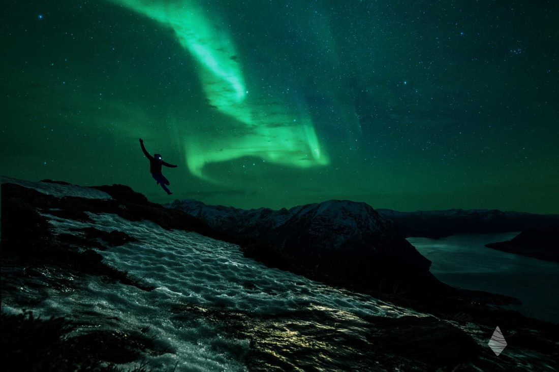 Photo du Trailer Kilian Jornet sous les aurores boréales de Norvège