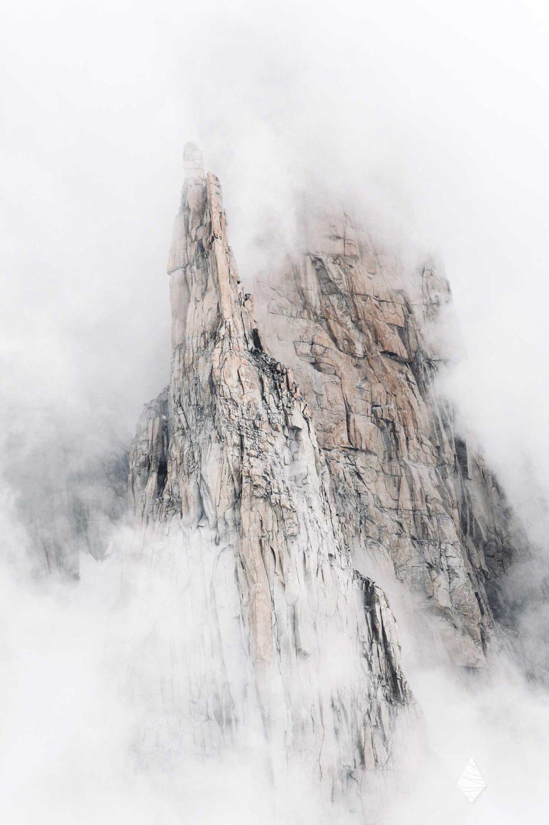 Photo du Trident du Tacul dans le Massif du Mont-Blanc