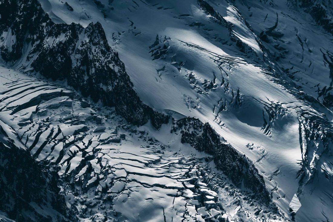 Photo du Glacier des Bossons dans le Massif du Mont-Blanc