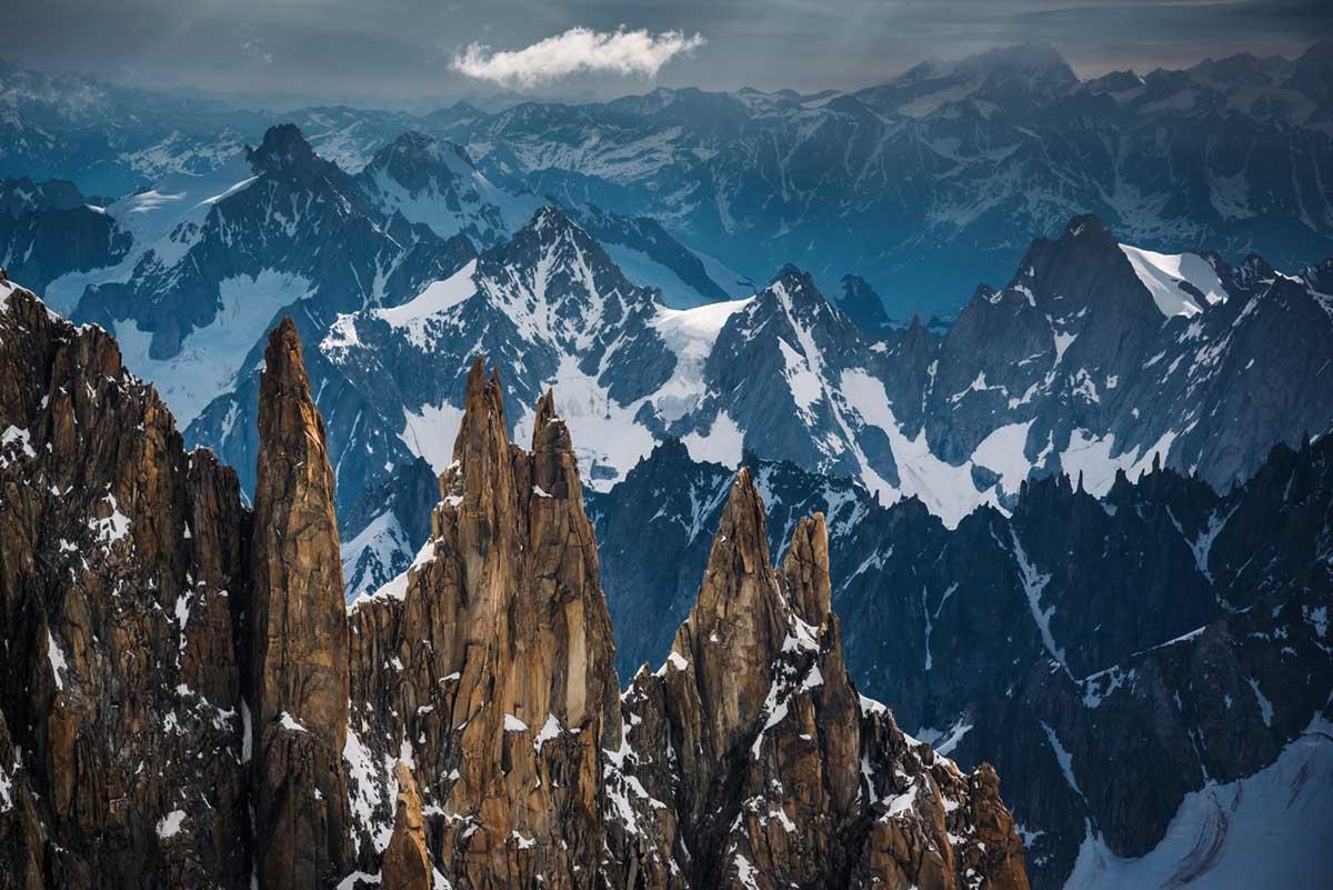 Photos des Aiguilles de Chamonix dans le Massif du Mont Blanc