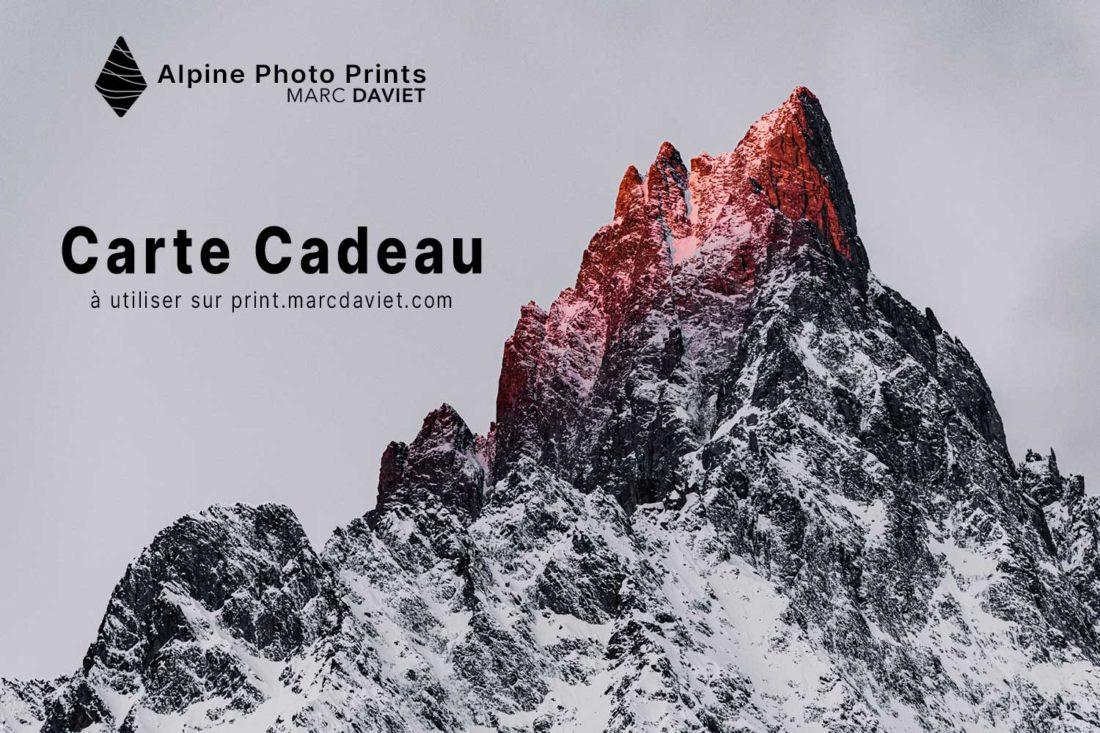 Carte cadeau boutique en ligne Alpine Photo Prints