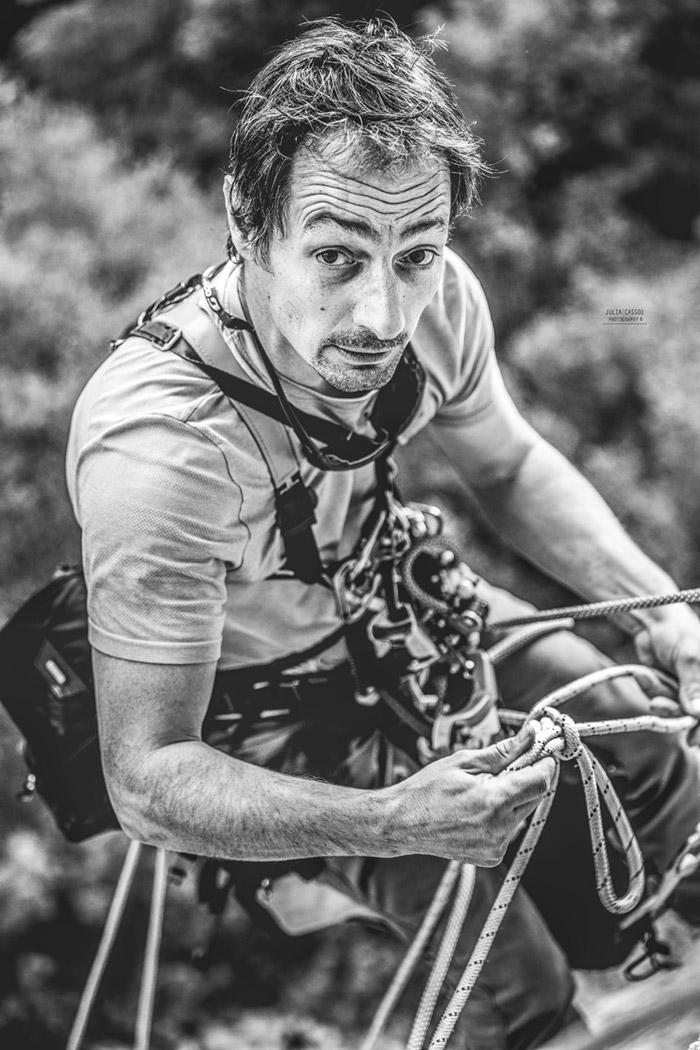 Marc Daviet photographe professionnel spécialisé dans les prises de vue sur corde